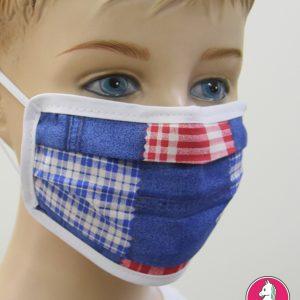 """Παιδική Υφασμάτινη Μάσκα Πολλαπλών Χρήσεων """"Patchwork"""""""