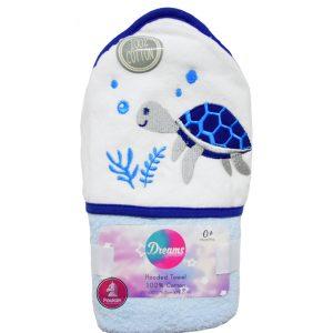 Βρεφική Πετσέτα Με Κουκούλα Για Αγόρι 76x76