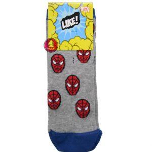 """Παιδικές Κάλτσες Για Αγόρι """"Γκρι Spiderman"""""""
