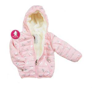 Παιδικό Μπουφάν Ροζ Πεταλούδες Για Κορίτσι 1-5