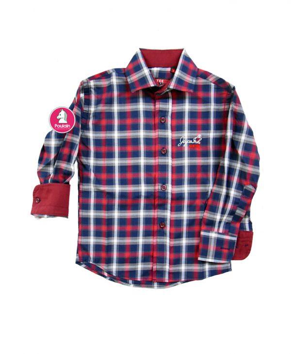 Παιδικό Πουκάμισο Καρό Κόκκινο/Μαύρο 204239 Joyce