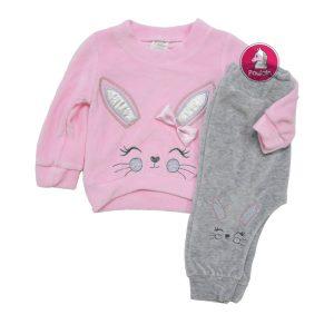 """Βρεφικό Σετ Φόρμας Βελουτέ """"Rabbit"""" 2500 Kinder"""
