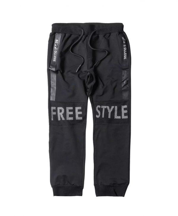 """Παιδικό Παντελόνι Φόρμας """"Free Style"""" Μαύρο 31-2028 New College"""