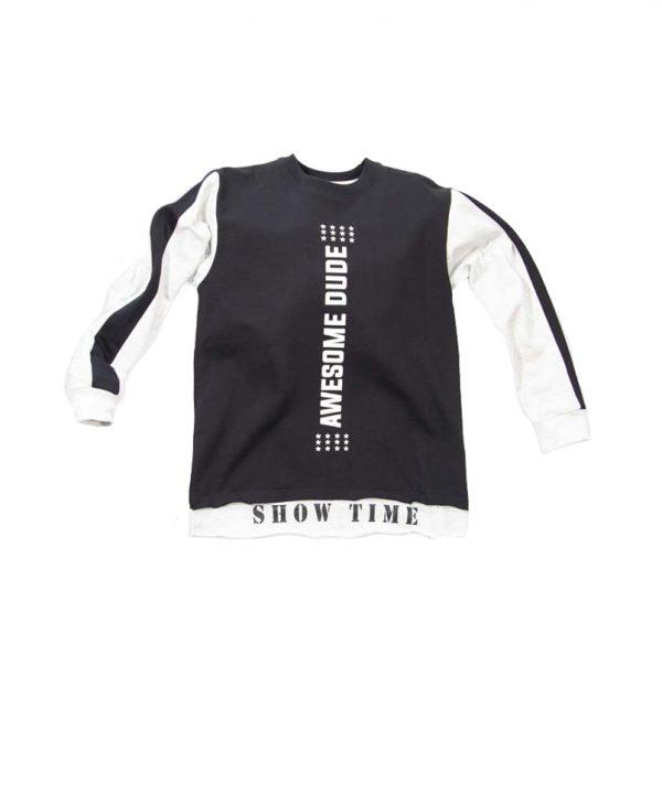"""Παιδική Μπλούζα """"Show Time"""" Μαύρο 31-9022 New College"""