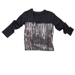Μπλούζα Μαύρη Με Ασημί Ρίγες Παγιέτας 31-9065 New College