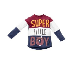 """Μπλούζα Φούτερ """"Super Little Boy"""" Για Αγόρι 31-914 New College"""
