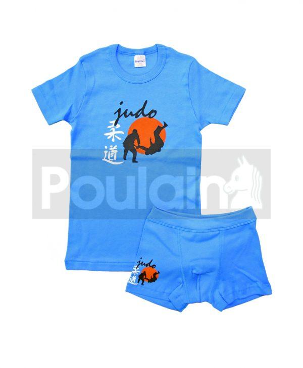 """Σετ Εσώρουχα Φανελάκι & Μποξεράκι Μπλε """"Judo"""" Pretty Baby"""