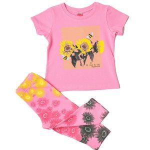 """Σετ Μπλούζα & Κολάν Κάπρι """"Sunflowers"""" 211120 Joyce"""