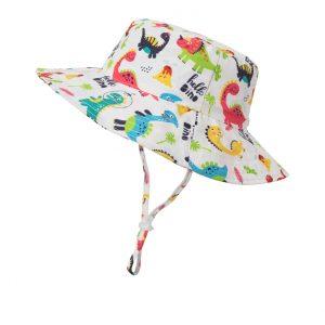 Παιδικό Καπέλο Λευκό Hello Dino (50-52εκατοστά)
