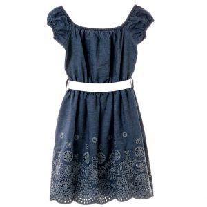 Φόρεμα Τύπου Denim Με Ζωνάκι Babylon