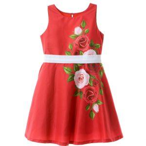 Φόρεμα Κόκκινο Με Λουλούδια Babylon