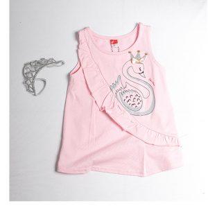 """Φόρεμα Ροζ """"Swan"""" 211162 Joyce"""