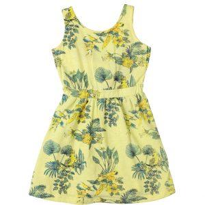 """Φόρεμα Κίτρινο """"Parrots"""" 211563 Joyce"""