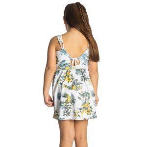 """Παιδικό Φόρεμα Λευκό """"Parrots"""" 211563 Joyce"""