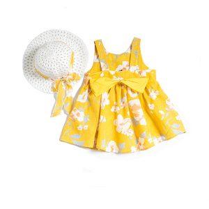 Φόρεμα Μουσταρδί Με Καπέλο 214144 Joyce