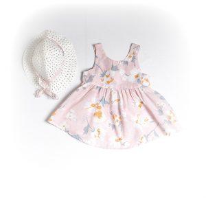 Φόρεμα Ροζ Με Καπέλο 214144 Joyce