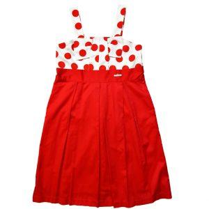 παιδικό φόρεμα αμάνικο κόκκινο εβιτά