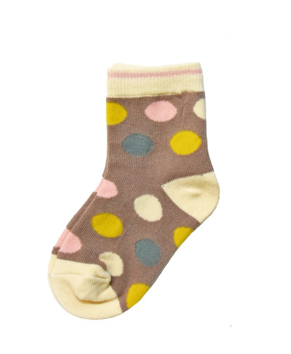 """Παιδικές Κάλτσες Για Κορίτσι """"Brown Dots"""""""