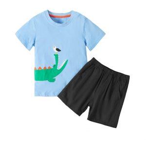 """Παιδικό Σετ """"Crocodile"""" Γαλάζιο/Μαύρο"""
