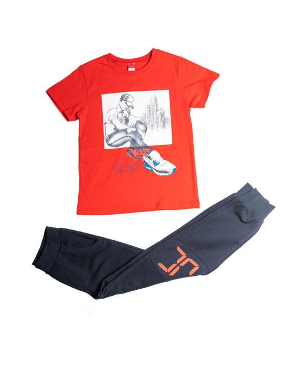 """Εποχιακή Φόρμα Για Αγόρι Κοκκινο/Μπλε """"Shoe Zoom"""" 211708 Joyce"""
