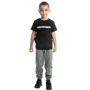 """Εποχιακή Φόρμα Για Αγόρι Μαύρο/Γκρι """"Decoding Style"""" 211709 Joyce"""