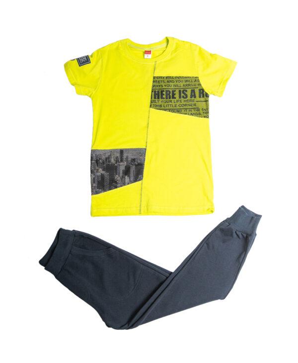 """Εποχιακή Φόρμα Για Αγόρι Κίτρινο/Μπλε """"City File"""" 211711 Joyce"""