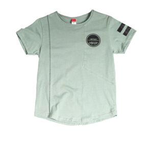 Παιδική Μπλούζα Κοντομάνικη Φυστικί με τελείωμα χαμόγελο 211785 Joyce