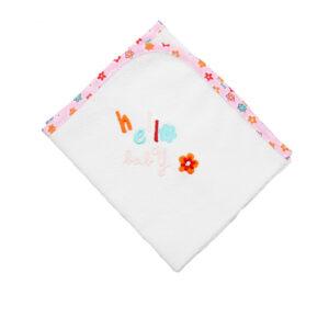 """Βρεφικό Σελτεδάκι """"Hello Baby"""" (60x40) Λευκό/Ροζ Ο Κόσμος Του Μωρού"""