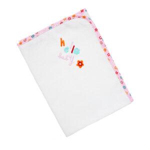 """Βρεφικό Σελτεδάκι """"Hello Baby"""" (80x60) Λευκό/Ροζ Ο Κόσμος Του Μωρού"""