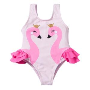 """Βρεφικό Μαγιό Ροζ """"Swan"""""""