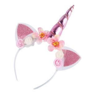 Παιδική Στέκα Μαλλιών Unicorn Ροζ