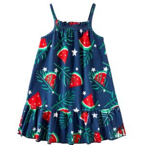 """Φόρεμα Μπλε """"Καρπουζάκια"""""""