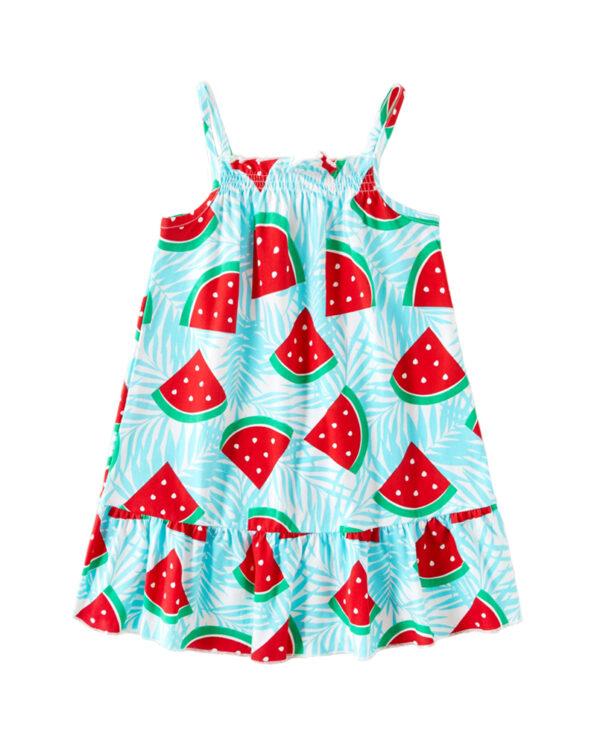 """Φόρεμα Τιρκουάζ """"Καρπουζάκια"""""""