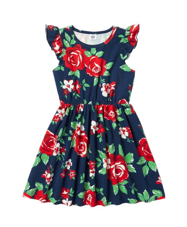 """Φόρεμα """"Roses"""" Μπλε"""