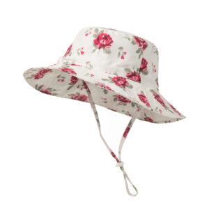 """Παιδικό Καπέλο Λευκό """"Flowers"""" (56 εκατοστά)"""