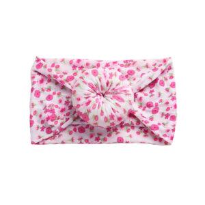 """Βρεφική Κορδέλα Ροζ """"Flowers"""""""