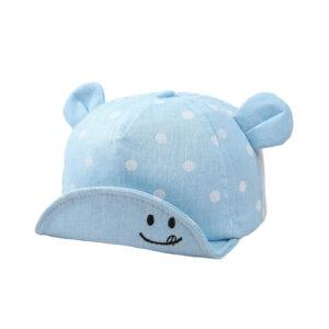 """Βρεφικό Καπέλο Γαλάζιο """"Smiley Dots"""""""