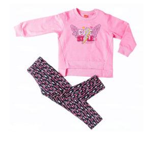 """Παιδικό Σετ Φούτερ & Κολάν """"Cute Style"""" Ροζ 216124 Joyce"""