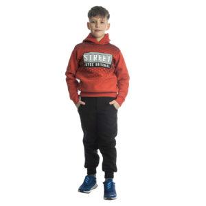 """Παιδική Φόρμα Φούτερ Για Αγόρι Εκάϊ/Μαύρο """"Enjoy"""" 216709 Joyce"""