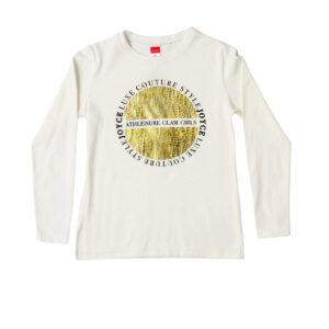 """Παιδική Μπλούζα Μακρυμάνικη Εκρού """"Luxe Style"""" 216553 Joyce"""