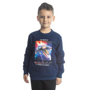 """Παιδική Μπλούζα Φούτερ Χωρίς Χνούδι Για Αγόρι """"Spaceship"""" 216769 Joyce"""