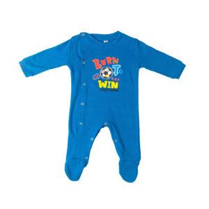 """Βρεφικό Ολόσωμο Φορμάκι Μπλε Ρουά """"Born To Win"""" 217060 Dreams"""