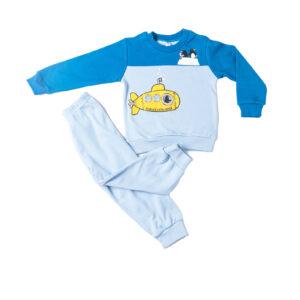 """Πυτζάμα Για Αγόρι """"Submarine"""" Σιέλ/Μπλε 217308 Dreams"""