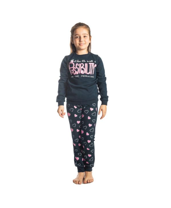 """Παιδική Πυτζάμα Για Κορίτσι Μπλε """"Possibility"""" 217507 Dreams"""