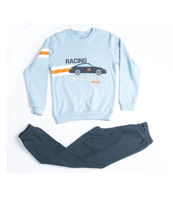"""Παιδική Πυτζάμα Για Αγόρι Σιέλ/Μπλε """"Racing"""" Dreams"""