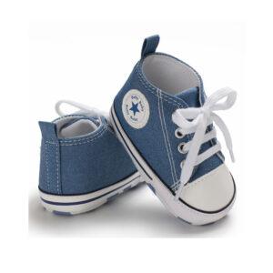 """Βρεφικά Παπούτσια Αγκαλιάς """"Baby Star"""" Μπλε"""