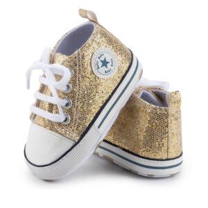 """Βρεφικά Παπούτσια Αγκαλιάς """"Baby Star"""" Χρυσό"""
